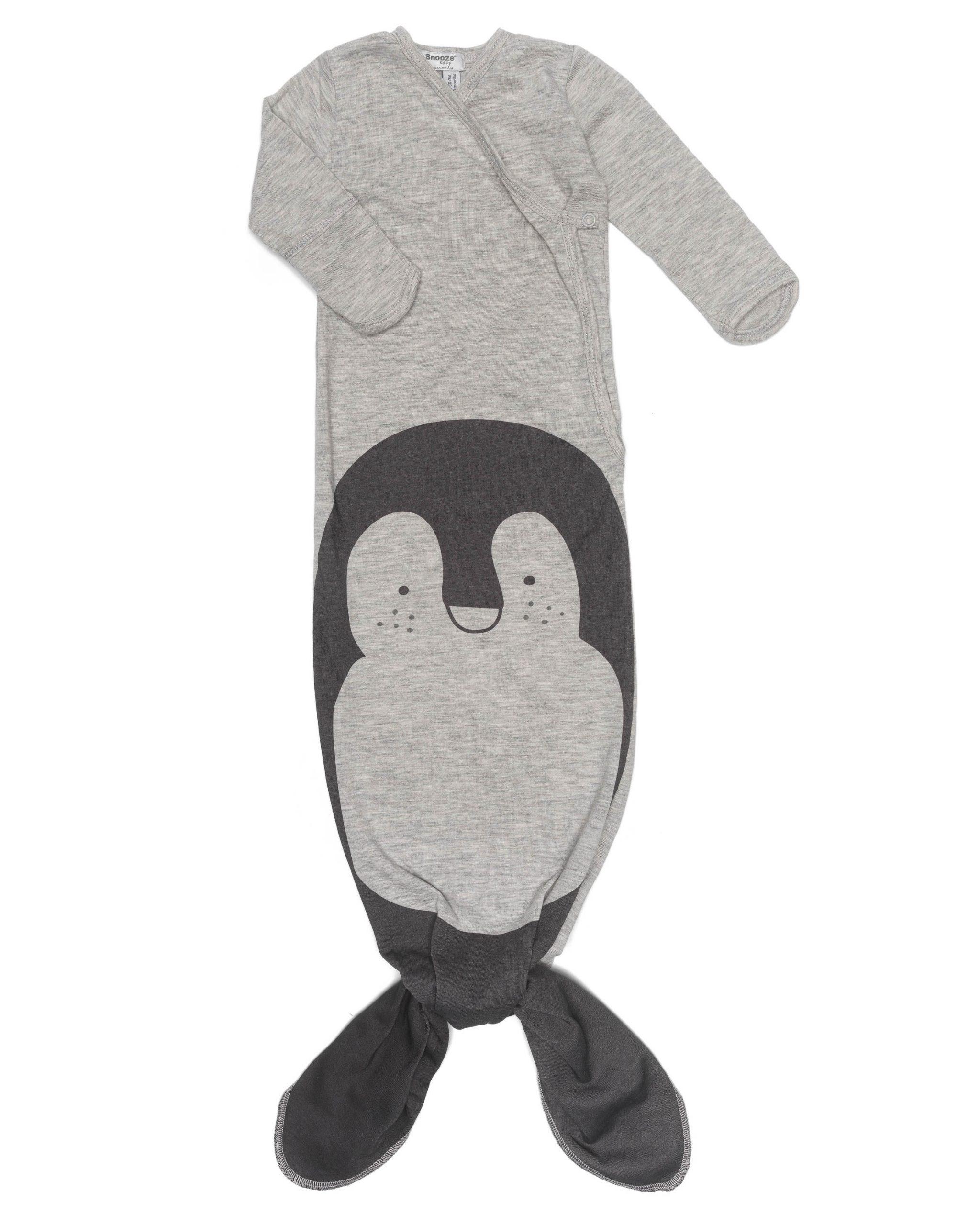 SnoozeBaby Body d'emmaillotage et bonnet Stone Beige PingouinSnoozeBaby Body d'emmaillotage et bonnet Stone Beige Pingouin