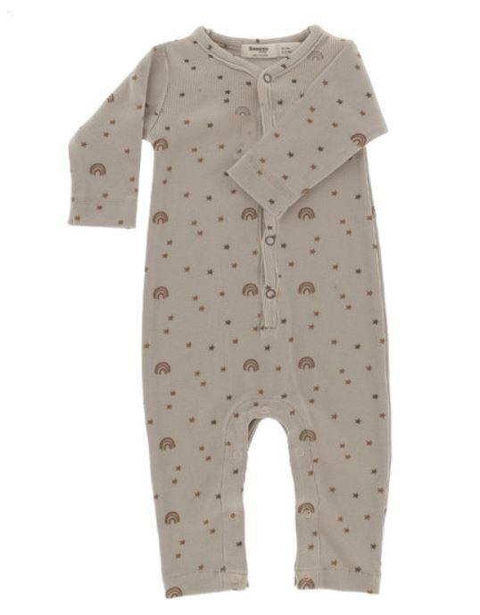 Snoozebaby Pyjama sans pied Milky Rust Rainbow