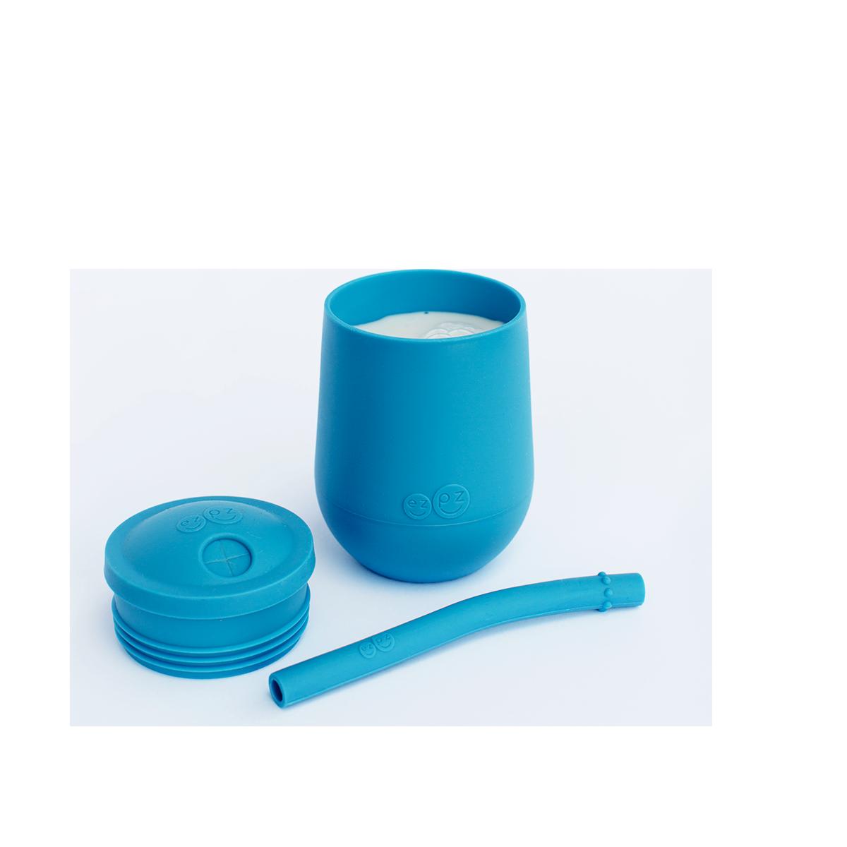ezpz Mini cup avec paille et couvercle - Bleu