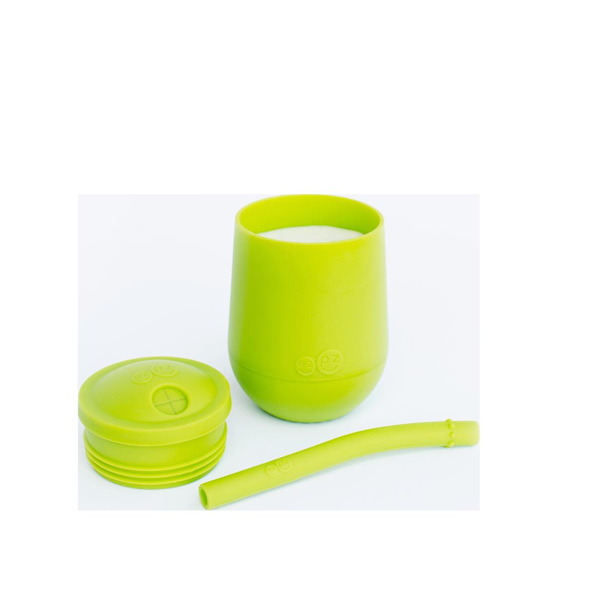 ezpz mini cup et paille vert lime